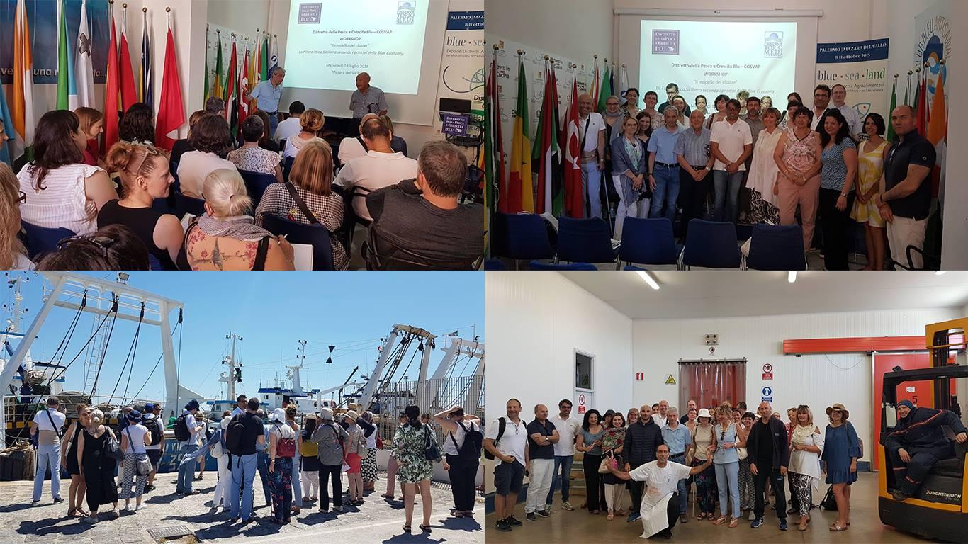 Delegazione Europea in visita al Distretto per studiare il modello delclustere dellablue economy
