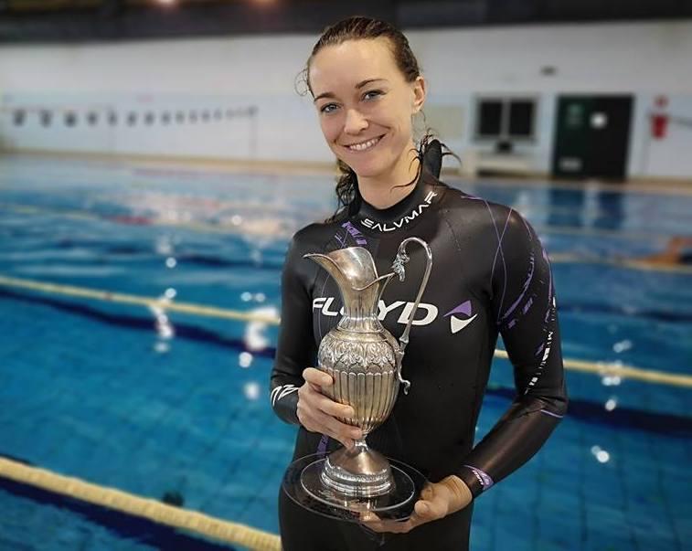 Apnea dinamica, a Milazzo Alessia Zecchini batte il record di Katarina Zubcic