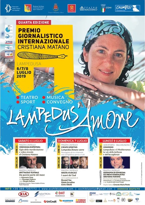 """Premio giornalistico """"Cristiana Matano"""": dal 6 all'8 luglio """"Lampedus'amore"""""""