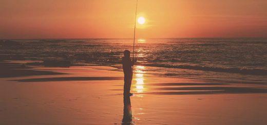 pescatore pescatore, pesca, pescatore, lago, hobby, natura, sport, uomo, tramonto, azione
